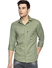 LEVIZO 100% Cotton Plain Casual Shirt Full Sleeves for Men