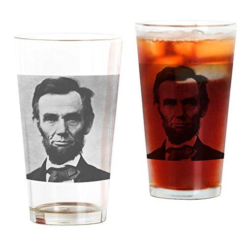 CafePress Abe Lincoln Puzzle Pintglas farblos