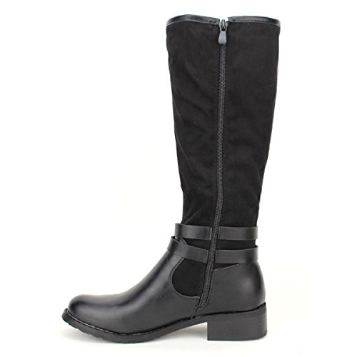 Mode Chaussures Botte Cendriyon Noir Noire QUEONS Femme tf4ITq