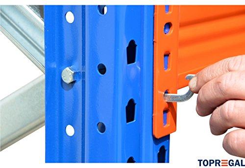 Palettenregal Industrieregal 7,6m breit, 3m hoch, 110cm tief, 3 Ebenen – Hochregal Schwerlastregal - 3