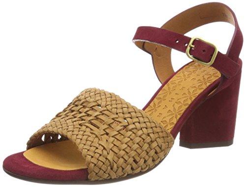 Di Donna trenza Cinturino Sandali Ante Granato Okiki Cuero Caviglia Colore Mihara Alla Merde w6Fzp0