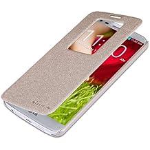 Golden Funda Case y Protector de Pantalla Para LG G2 D802 (sólo es compatible con LG G2 / no es compatible con LG G2 Mini) Nillkin NK30073