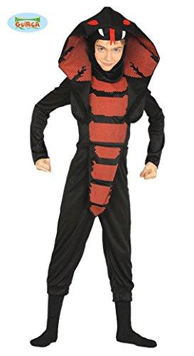 Cobra Ninja Kostüm für Kinder Gr. 98 - 146, (Cobra Schlange Kostüme)