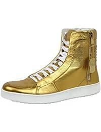 Gucci Limitado de cuero de oro edición Hightop Sneakers 376193 (10 U.S. ...