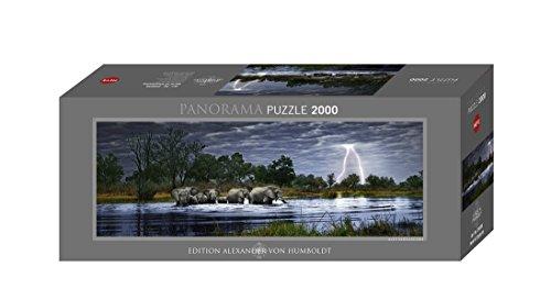 Heye 29508 - Panorama, Puzzle, motivo: Branco di elefanti, 2000 pz., edizione Alexander von Humboldt