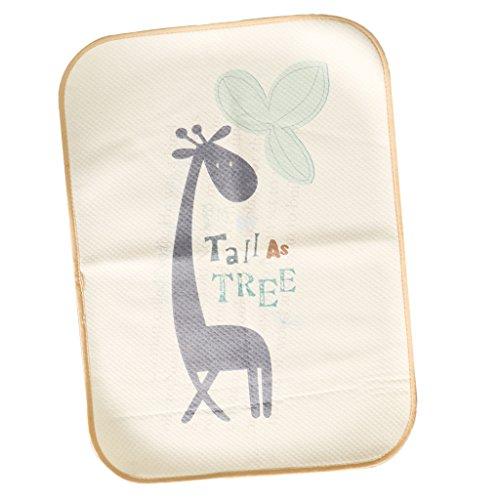 Baoblaze Baby Jungen Mädchen Matte Decke Wickelauflage Wickelunterlage Wickeltischauflage Babybett Soft Wickelmulde - Giraffe, 50x70cm
