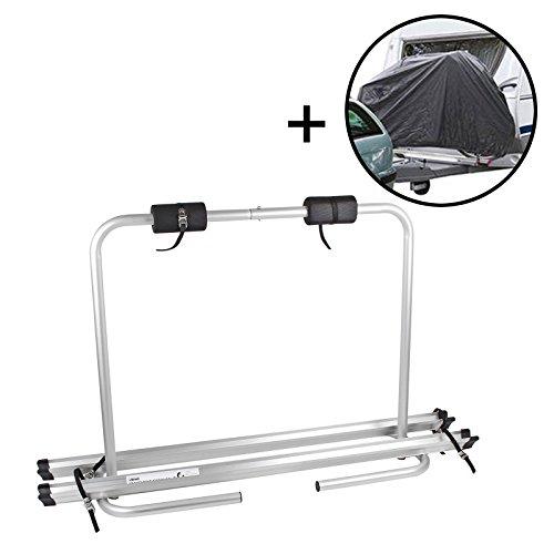 Beaut Deichsel Fahrradträger Deichselträger Fiamma Set inkl. Fahrradschutzhülle für 2 Fahrräder klappbar, 4,6 Kg, Tragekraft 35 kg, Aluminium für Wohnwagen