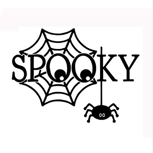 LONGTENGHEIHA DIY Happy Halloween Home Haushalt Zimmer Spinne Wandaufkleber Wandhauptdekoration Aufkleber Abnehmbare Neue Halloween Wandaufkleber (Hausgemachte Halloween Spinne)