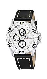 Reloj analógico Lotus 15813/1 de cuarzo para hombre con correa de piel, color negro