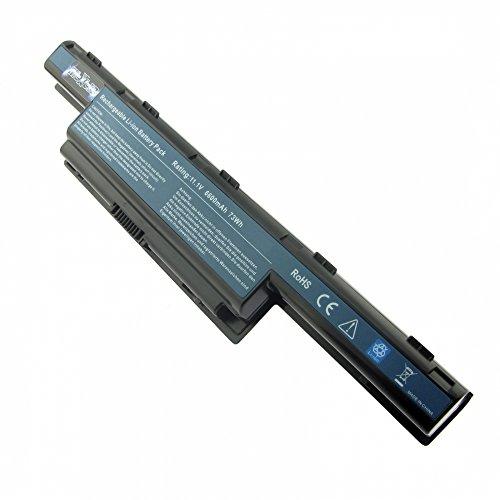Akku, LiIon, 10.8V, 6600mAh, schwarz für Acer Aspire 7741G (MS2309) (Batterien Für Acer Laptop-ms2309)