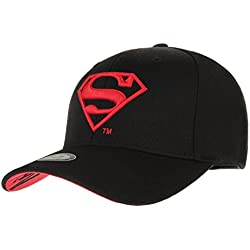 WITHMOONS Gorras de béisbol gorra de Trucker sombrero de Superman VS Batman Shield Embroidery Baseball Cap AC3260 (Black, L)
