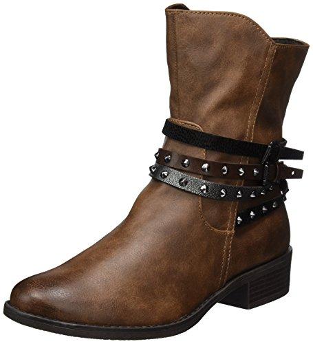 MARCO TOZZI Damen 25364 Biker Boots, Braun (Cognac Ant.Com), 39 EU