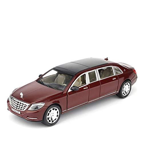 KKD Scale-Modellfahrzeuge 1:24 Mercedes - Mercedes-Benz Maybach Extended Version Simulation Legierung Original Automodell Super Running Automodell Geschenk Dekoration Mini Fahrzeuge (Color : Red)