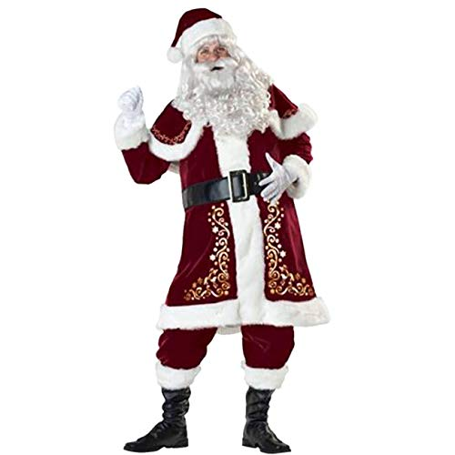 Kostüm Anzug Santa - Feynman Weihnachtsmann Kostüm Santa Claus Kostüm Nicolaus Costume Weihnachten Anzug Uniform, XXXL