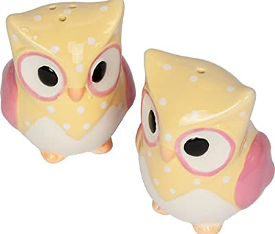 Yellow Owl Salt & Pepper Pots from ProdBuy Limited
