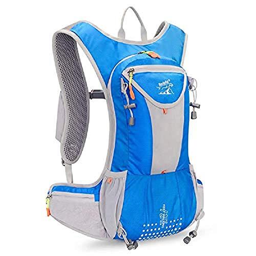 SHLYXY Outdoor Sport Rucksack 15L Outdoor Wandern Klettern Trekking Rucksack wasserdichte Reisegepäck Tasche Casual Daypack-12 Inch_Blue