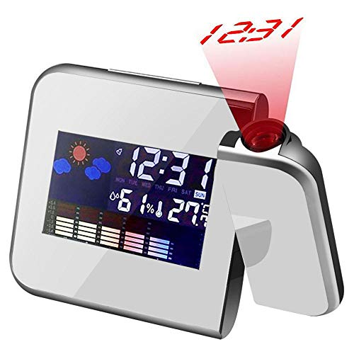Colorida Reloj Despertador con Proyección