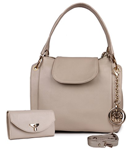 Classic Fashion Cream Color Handbag Combo for Women and Girls