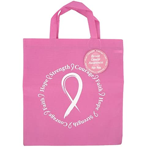 DM Merchandising, Inc. - Breast Cancer Awareness Reusable Woven Tote Bag by DM Merchandising