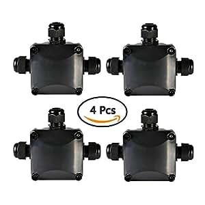 atpwonz 4 pcs bo te de jonction ip68 connecteur tanche 3 voies connecteurs bo tier lectrique. Black Bedroom Furniture Sets. Home Design Ideas