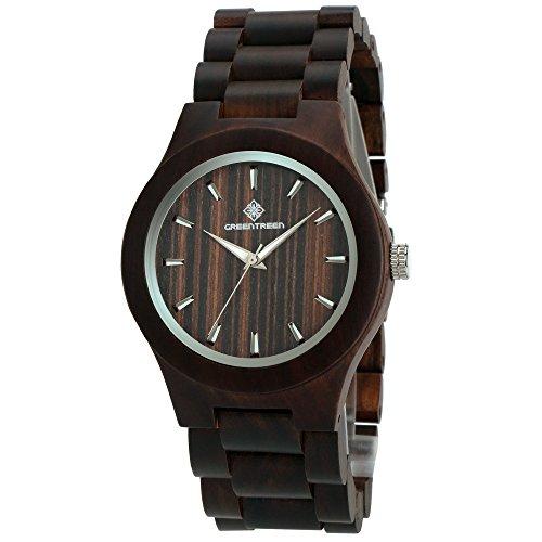 GREENTREEN-Black-Sandalwood-Wood-Watch-for-men