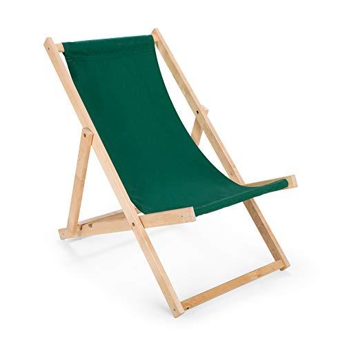 Liegestuhl Sonnenliege zusammenklappbar auflage, Strandliege Liege camping schön deco gartenliege outdoor LIEGE Relaxliege (Grün) -