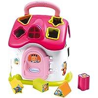 Smoby 110402 Cotoons Elektronisches Steckspielhaus pink