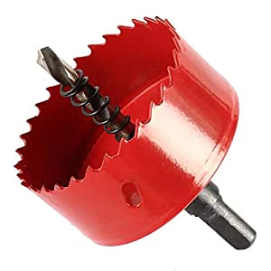 TOOLSTAR sierra perforadora bimetal, M42 HSS sierra perforadora 15-200 mm bi-metal perforadora broca perforadora herramienta de corte para madera aluminio hoja de hierro tubo plástico, rojo