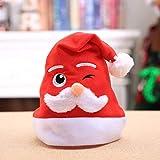 HPEDFTVC Frohe Weihnachten Weihnachtsmütze Für Kinder Und Erwachsene Hut Jahr Party Weihnachtsschmuck 5 Stück, Erwachsene