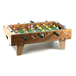 Kicker / Tischfussball aus Holz - Mini-Soccer Kicker