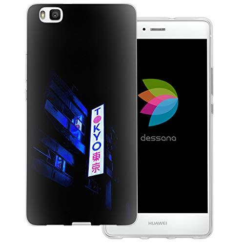 dessana Tokio Japan Transparente Schutzhülle Handy Case Cover Tasche für Huawei P9 Lite Tokio Sign Japan
