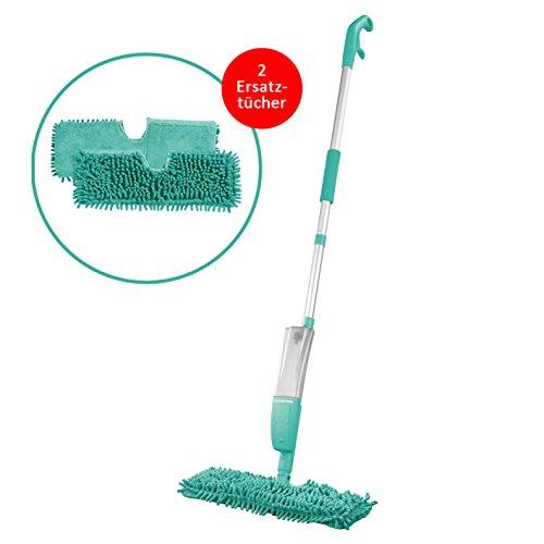 cleanmaxx-spray-mopp-2in1-in-trkis-mit-2x-ersatz-wischtuch
