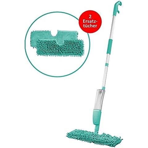 Cleanmaxx–Spazzolone spray 2in1| 2| panno in microfibra | turchese | panni di ricambio mocio | Wischen | spazzolone | Spray tergicristallo