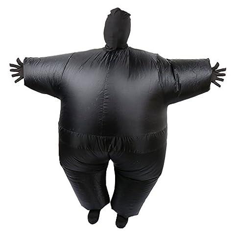 MagiDeal Adulte Costume Gonflable en Polyester Couverture Complet du Corps et Tête - Noir