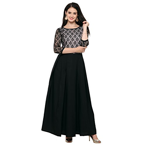 Fashion2Wear Women\'s Stylish Net Latest Casual Designer Western Stitched Gown
