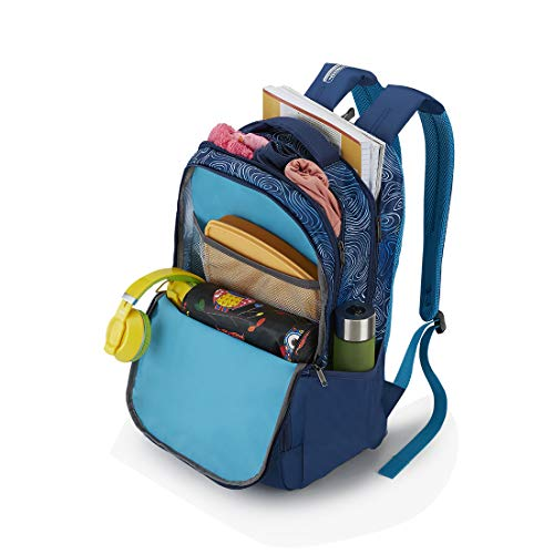Best american tourister backpack in India 2020 American Tourister Turf 32 Ltrs Blue Casual Backpack (FF0 (0) 01 001) Image 4