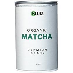 Bio Matcha Tee Pulver - Premium Grade | Ideal als Matcha Tee, Matcha Latte und Matcha Smoothie | Aromaschutzdose | ohne Zwischenhandel