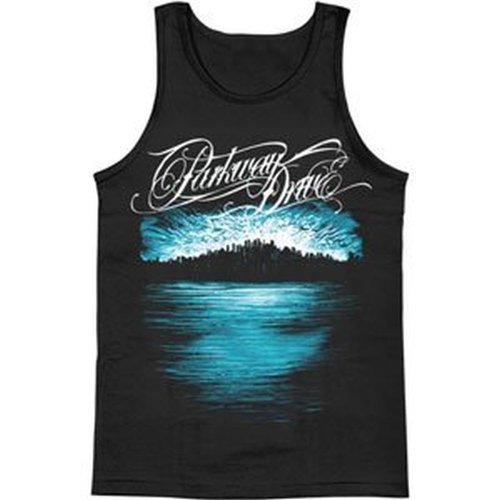 Ill Rock Merch Parkway Drive - Deep Blue Skyline Tank Top T-Shirt (Large)