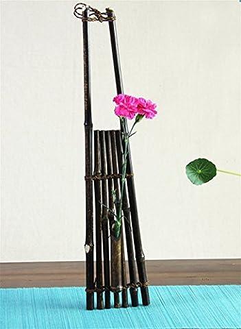 Art Bambou Artisanat, Vase de fleurs, Rétro fleur de zen, Creative Flower Ornaments d'arrangement pour mur ou meubles , 50cm