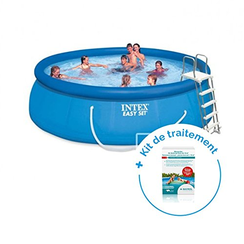 RAVIDAY Pack Piscine autoportée Easy Set Intex 4,57 x 1,22 m + Traitement pour piscines  10 m³