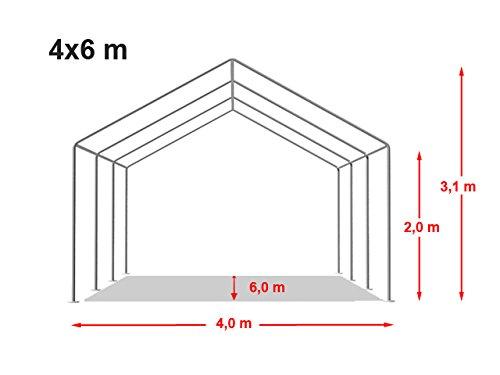 Preisvergleich Hochwertiges Partyzelt 4x6 M Pavillon