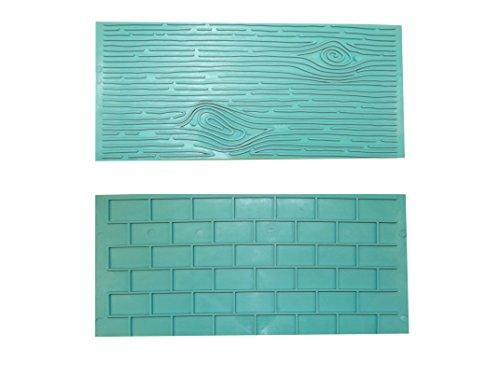 plaque-en-relief-pour-fondant-effet-bois-et-mur-de-pierre