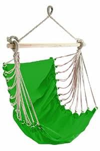 Hängesitz FASHION GREEN mit Tragstab und Aufhängeseil 85x160cm, Tragfähigkeit 110kg
