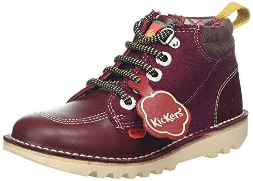 Kickers Kick Hi Winterized, Botas para Bebés, Morado Burgundy Burgundy, 28 EU