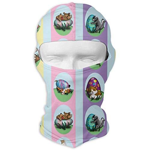 Pizeok Windproof Balaclava, Easter_Eggs Ski Mask for Hunting Cycling Design20 (Kopfhörer Steeler)