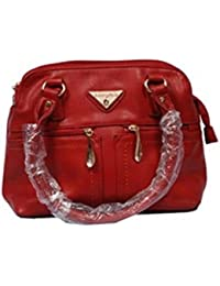Vj's Ladies Hand Bag With Red Color (12 Inch * 10 Inch)