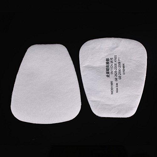 Hanbaili N95 5N11 Protezione della vernice della materia grassa del cotone del filtro per la mascherina a gas di 3M 6200