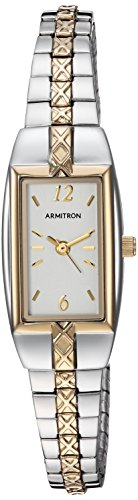 Armitron Women's 75/3415CHTT Two-Tone Expansion Bracelet Dress Watch