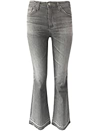 AG Jodi Crop Jeans In Grey Sulphar With Released Hem