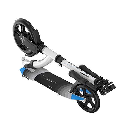 Ibs-unterstützung (Outdoor-Roller mit Handbremse Faltbare Einstellbare Einstellbare Tretroller, Pendler Roller Geeignet für Große Kinder, Jungen Mädchen (Unterstützung 220 Ibs))